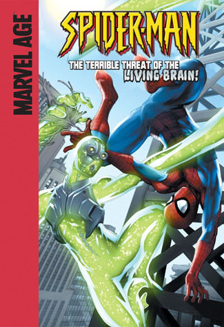 Cover: Spider-Man and the Terrible Threat of the Living Brain!