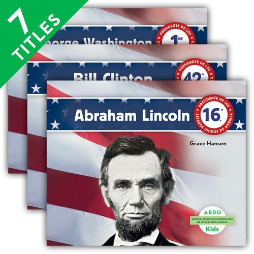 Cover: Biografías de los presidentes de los Estados Unidos (United States Presidents Biographies) (Spanish Version)