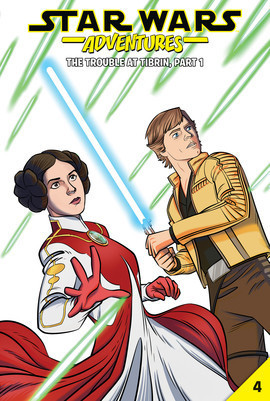 Cover: Star Wars Adventures #4: The Trouble at Tibrin, Part 1