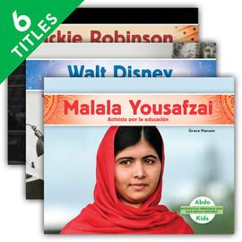 Cover: Biografías: Personas que han hecho historia (History Maker Biographies Set 1) (Spanish Version)