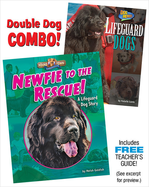 Cover: Newfie to the Rescue!/Lifeguard Dogs