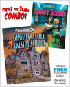 Cover: The Ghostly Secret of Lakeside School/Spooky Schools Combo