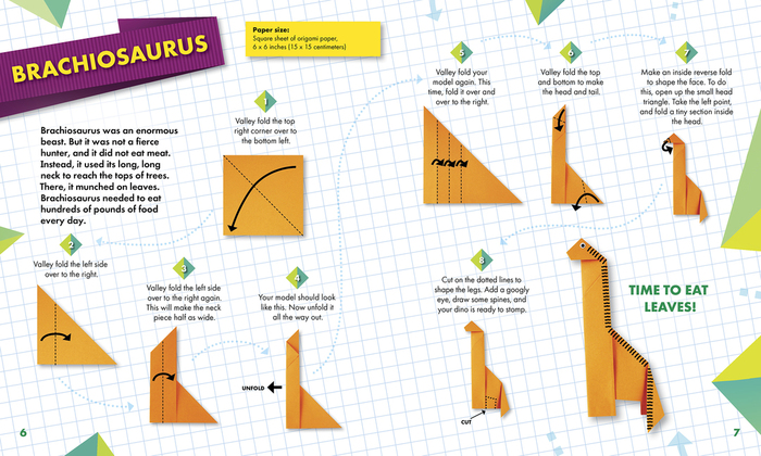 Amazon.com: Origami Dinosaurs Kit: Prehistoric Fun for Everyone ... | 420x700