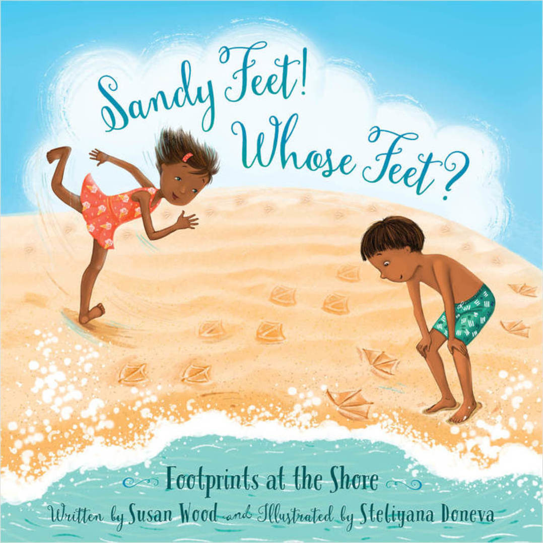 Cover: Sandy Feet! Whose Feet?: Footprints at the Shore