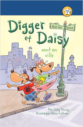Cover: Digger et Daisy vont en ville (Digger and Daisy Go to the City)