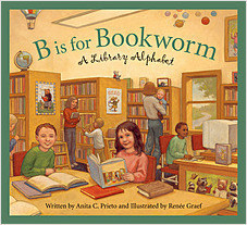Cover: B is for Bookworm: A Library Alphabet