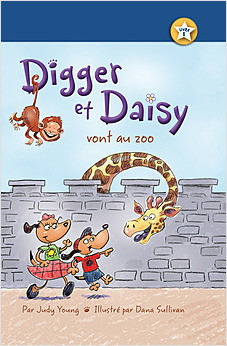 Cover: Digger et Daisy vont au zoo (Digger and Daisy Go to the Zoo)