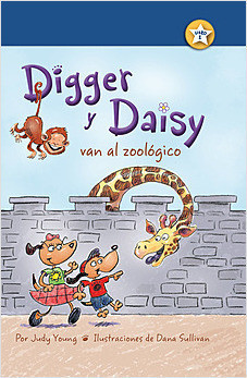 Cover: Digger y Daisy van al zoológico (Digger and Daisy Go to the Zoo)