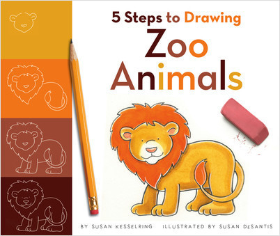 Cover: 5 Steps to Drawing Zoo Animals