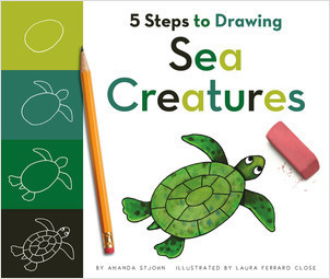 Cover: 5 Steps to Drawing Sea Creatures