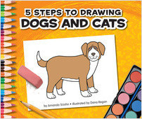 Cover: 5 Steps to Drawing Dogs and Cats