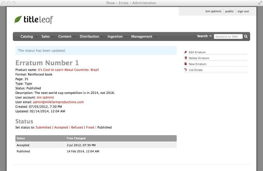 TitleLeaf: Erratum status changed to published