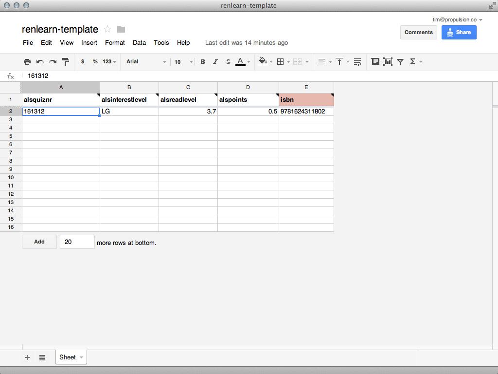 Google Doc: renlearn template