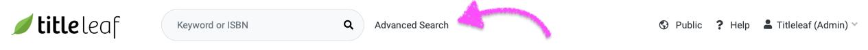 Advanced search link
