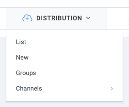 Admin: Distribution menu