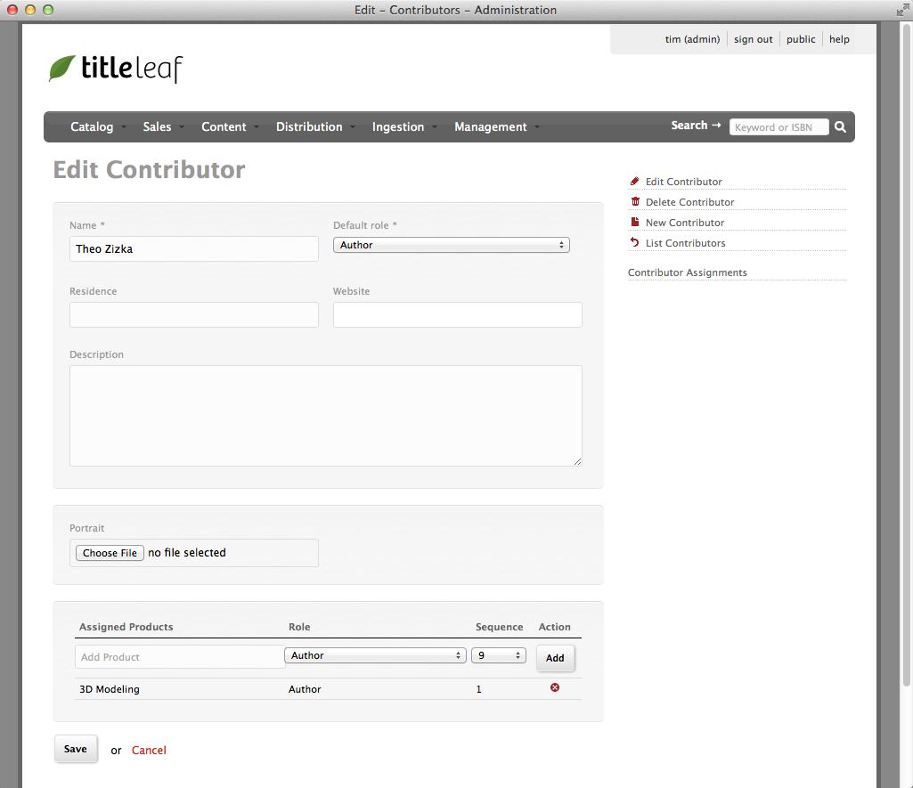 TitleLeaf: Edit Contributor