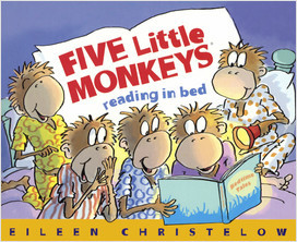 Cover: Five Little Monkeys Reading in Bed