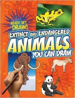 Cover: Extinct and Endangered Animals You Can Draw