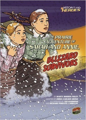 Cover: The Prairie Adventure of Sarah and Annie, Blizzard Survivors