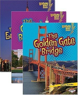 Cover: Lightning Bolt Books ™ — Famous Places — Interactive Books Set