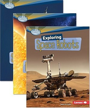 Cover: Searchlight Books ™ — What's Amazing about Space? — Interactive Books Set
