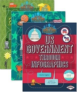 Cover: Super Social Studies Infographics — Hardcover Set