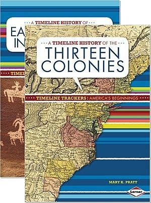 Cover: Timeline Trackers: America's Beginnings — Paperback Set