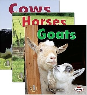 Cover: First Step Nonfiction — Farm Animals — eBook Set