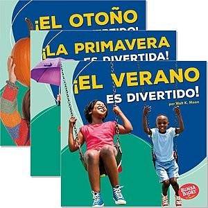 Cover: Bumba Books ™ en español — Diviértete con las estaciones (Season Fun) — Interactive Books Set