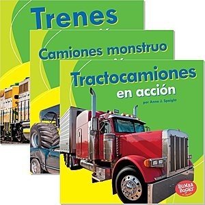 Cover: Bumba Books ™ en español — Máquinas en acción (Machines That Go) — Interactive Books Set