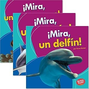Cover: Bumba Books ™ en español — Veo animales marinos (I See Ocean Animals) — Interactive Books Set