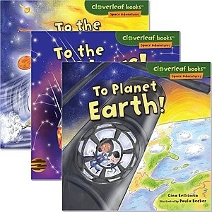Cover: Cloverleaf Books ™ — Space Adventures — Interactive Books Set