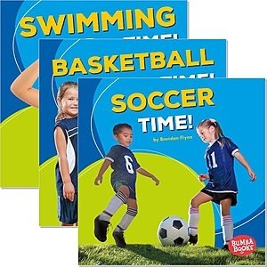 Cover: Bumba Books ™ — Sports Time! — Audisee®—On Level Set