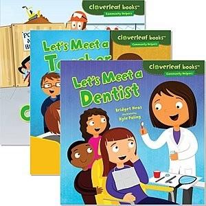 Cover: Cloverleaf Books ™ — Community Helpers — Audisee®—On Level Set