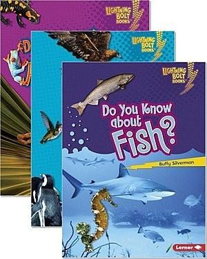 Cover: Lightning Bolt Books ™ — Meet the Animal Groups — Audisee®—On Level Set