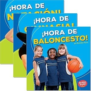 Cover: Bumba Books ™ en español — ¡Hora de deportes! (Sports Time!) — Audisee®—On Level Set