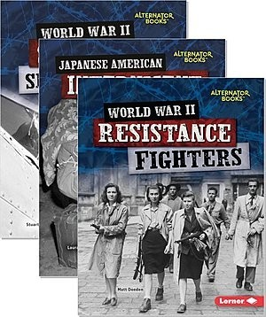 Cover: Heroes of World War II (Alternator Books ®) Audisee® eBooks with Audio Collection (Multi-User) — Audisee®—Fluent Set