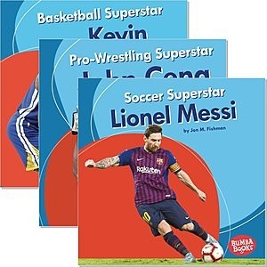 Cover: Bumba Books ® — Sports Superstars — Audisee®—On Level Set