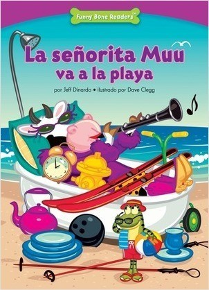 Cover: La señorita Muu va a la playa (Miss Moo Goes to the Beach): Thinking Before You Act