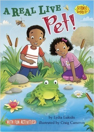 Cover: A Real Live Pet!: Living vs. Nonliving Things