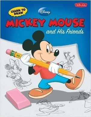 Cover: Learn to Draw Mickey & His Friends: Featuring Minnie, Donald, Goofy, and other classic Disney characters!