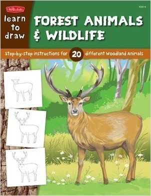 Cover: Learn to Draw Forest Animals & Wildlife: Step-by-step instructions for 20 different woodland animals