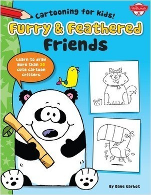 Cover: Furry & Feathered Friends: Learn to draw more than 20 cute cartoon critters