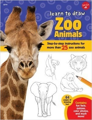 Cover: Learn to Draw Zoo Animals: Step-by-step instructions for more than 25 popular animals