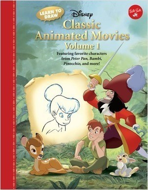 Cover: Learn to Draw Disney Classic Animated Movies Vol. 1: Featuring favorite characters from Alice in Wonderland, The Jungle Book, 101 Dalmatians, Peter Pan, and more!