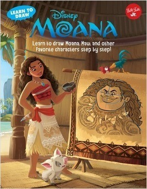 Cover: Learn to Draw Disney Moana: Learn to draw Moana, Maui, and other favorite characters step by step!