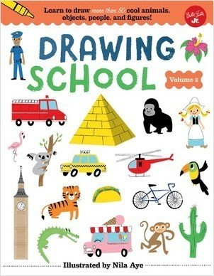 Cover: Drawing School—Volume 2: Learn to draw more than 50 cool animals, objects, people, and figures!