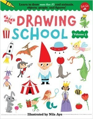 Cover: Drawing School—Volume 3: Learn to draw more than 50 cool animals, objects, people, and figures!