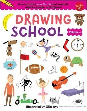 Cover: Drawing School—Volume 4: Learn to draw more than 50 cool animals, objects, people, and figures!