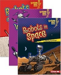 Cover: Lightning Bolt Books ™ — Robots Everywhere! — Audisee®—On Level Set